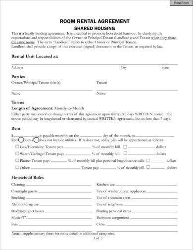 House Share Agreement Resident Owner In 2020 Room Rental Agreement Rental Agreement Templates Being A Landlord