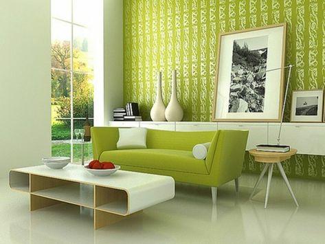 sehr schöne wandgestaltung wohnzimmer grüne wände modernes - wohnzimmer brauntone