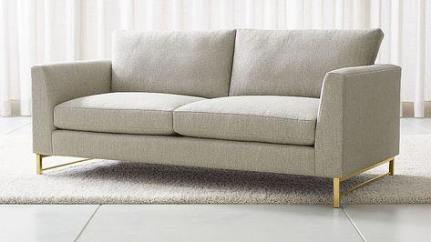 Tyson Apartment Sofa With Brass Base Apartment Sofa Sofa Furniture