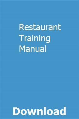 Restaurant Training Manual Repair Manuals Manual Repair