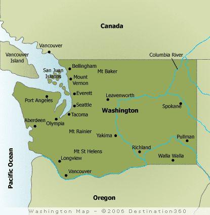 Washington Map States Ive Visited Pinterest Washington Map - Washington on the us map