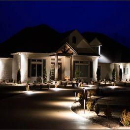Pin On ایده های نورپردازی نمای ساختمان