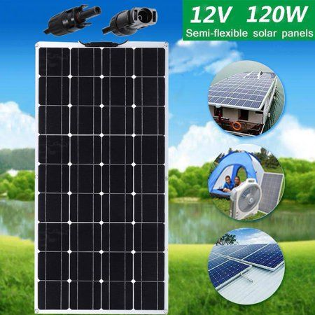 Flexible 120w 12v Bendable Solar Panel Sun Power For Car Rv Camping Yacht Home Black Solar Panels Solar Flexible Solar Panels