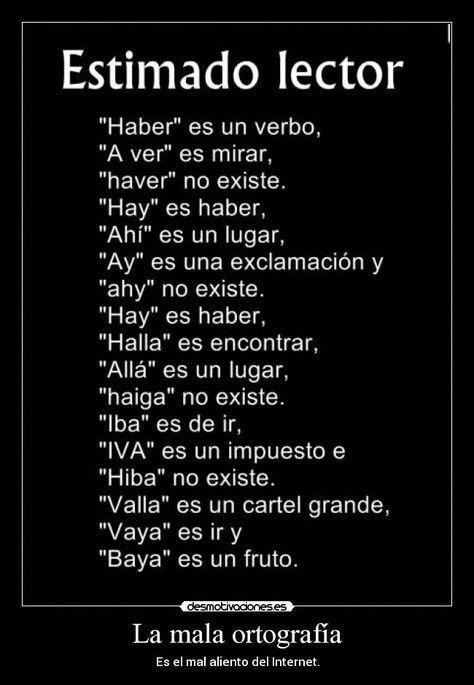 Chistes De Ortografia Buscar Con Google Spanishlessontips Yeisy Mota Todos Learning Spanish Words New Words