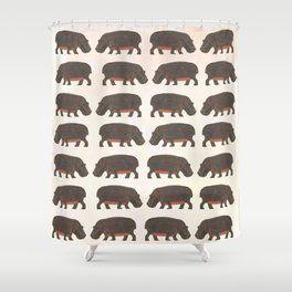 Hippo Hippo Shower Curtain Shower Curtain Curtains Designer