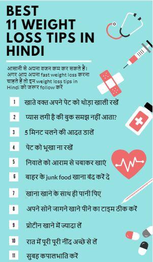 Hindi weight reduction tips
