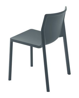 Chaise Empilable Lp Kristalia Gris Made In Design Chaise Empilable Meridienne Chaise