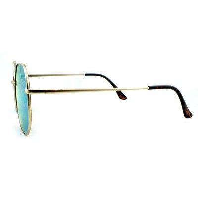 07c1e09660a Women s Oversized Sunglasses with Blue Lenses - Wild Fable Golden Mist