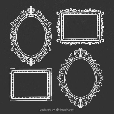 Marcos Mas Marcos Dibujados Espejo Dibujo Marcos Decorativos