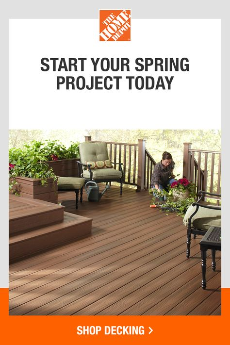 Bring on a backyard makeover with help from The Home Depot. Get inspired to bring your dream outdoor space to life. Consider updating your decking, repairing your walkway or installing a new fence. Tap to browse everything you need to start your Spring projects at The Home Depot.​