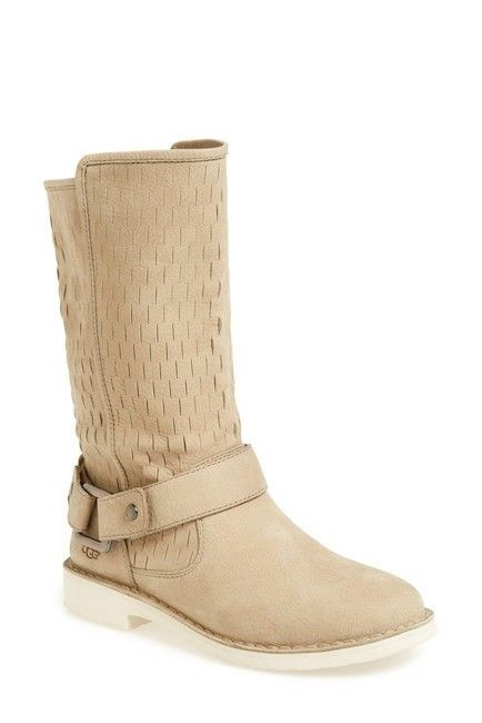 80a6a537cd8 WOMENS UGG AUSTRALIA Boots Shani Uggpure Lined Beige Topstitched ...