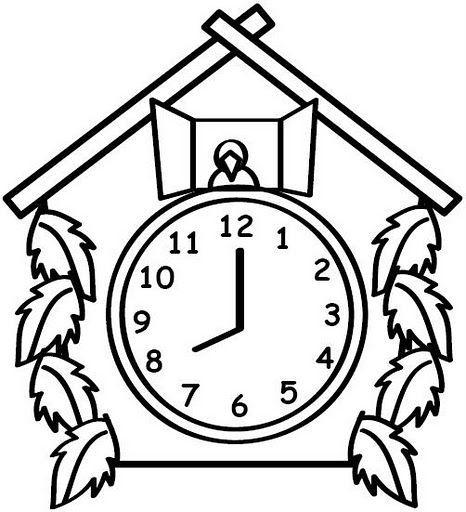 Reloj Para Colorear En 2020 Reloj Animado Reloj De Cuco Reloj