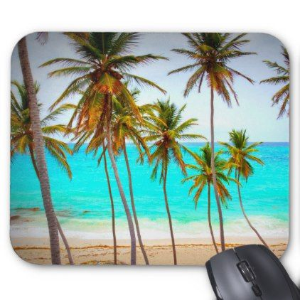 Palms On Beach Mouse Pad Ocean Side Nature Waves Freedom Design Beach Paradise Beach Coasters Beach