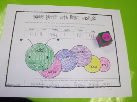 Reading - Sight words connection and tallying