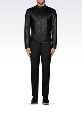 Leather jackets for men Armani Collezioni - Armani.com