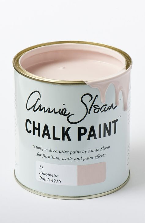 Antoinette is a soft pale pink inspired by the decorative pieces and interiors of 18th Century France, when the finest red earths were mixed with white and used to make a clear, but dusky colours for walls. Available in 1l tins.