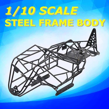 Black Steel Frame Body Roll Cage Black For Wraith Rc 1 10 Scale Axial Rc Car Crawler Truck Metal Black Steel Frame Roll Cage Black Steel