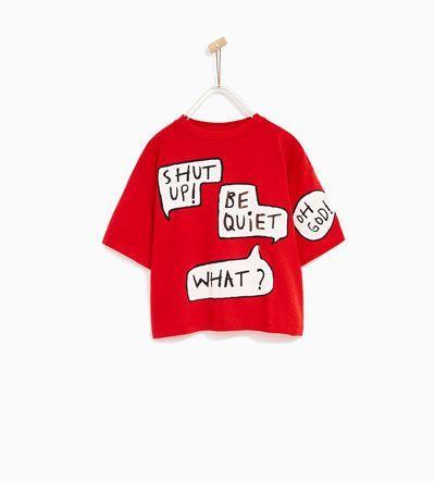 T Shirt Mit Logo Alles Sehen T Shirts Madchen 4 14 Jahre Kinder Zara Deutschland Kidsfashionrock Kids Fashion Zara Cool Kids Clothes Kids Fashion Rock