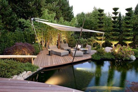 Garten und landschaftsbau terrasse  gestaltungsideen Garten- und Landschaftsbau terrasse-lounge-teich ...