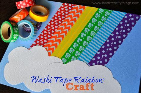 Washi Tape Rainbow Craft from I Heart Crafty Things