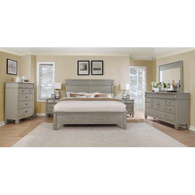 Vasilikos Solid Wood Construction Platform 5 Piece Bedroom Set Wood Bedroom Sets Bedroom Set Bedroom Furniture Sets