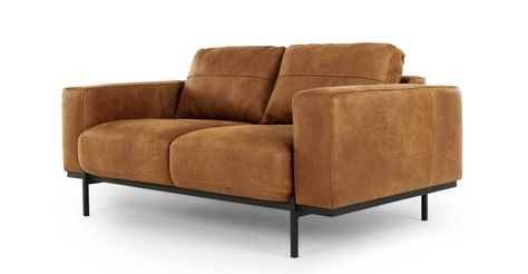 Jarrod 2 Sitzer Sofa Leder In Cognac In 2020 2 Seater Sofa Tan Leather Sofas Sofa