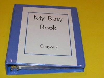 Busy book idea using crayons