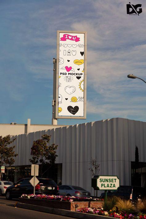 Free Vertical Billboard PSD Mockup | Mockup, Premium logo
