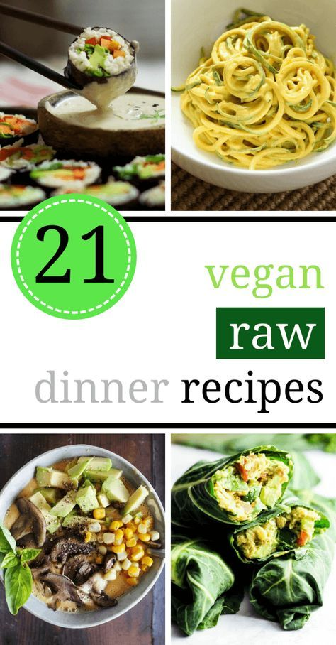 21 Satisfying Raw Vegan Recipes For Dinner Numminness
