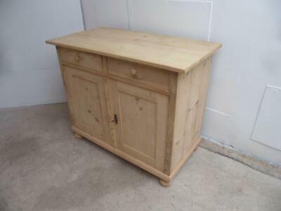 Door 2 Drawer Dresser Base To Wax