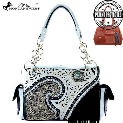 MW379G-8085 Montana West Fringe Collection Concealed Handgun Stachel-Navy  #western #momtanawest #west #handbaloverusa #rustic #rusty #country #purse #countrygirl #cattle #american #cowgirl #texas #texan #USA #cowgirl #cattle #countryside #countrylife #gun #guncarry #aztec