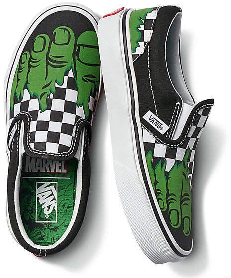 Vans X Marvel Kids Slip-On | Shop At Vans | Boys vans shoes, Slip ...