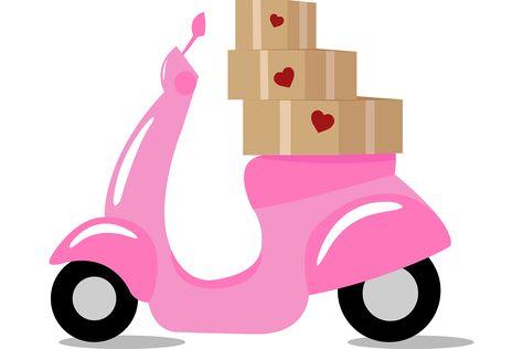 Love Delivery Graphic by Sasha_Brazhnik · Creative Fabrica