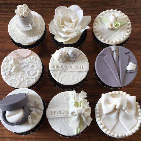 Wedding Cupcakes Wedding Cupcakes Fondant Fondant Cupcakes Bride Cupcakes