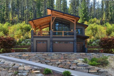 Cabin House Plans, Mountain House Plans, Mountain Homes, Mountain Home Exterior, Shop House Plans, Style At Home, Carriage House Plans, Garage Apartment Plans, Garage Apartments