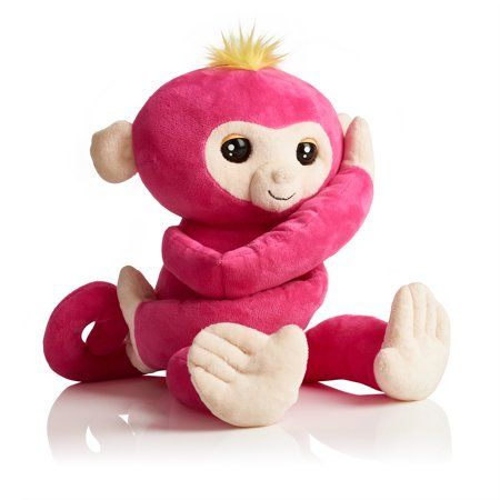 Fingerlings Hugs Bella Pink Interactive Plush Monkey By