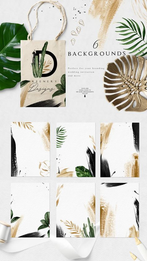Greenery Summer Design Set by Graphic Box on @creativemarket