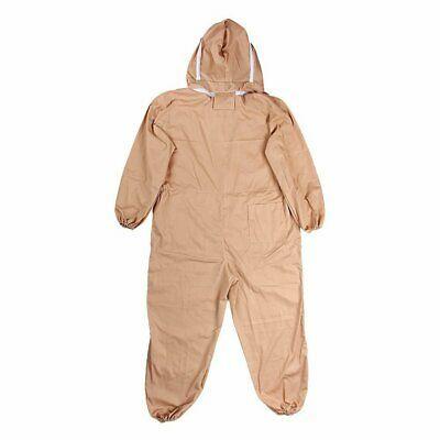 USA Professional Cotton Full Body Beekeeping Bee Keeping Suit W Veil Hood L~XXL