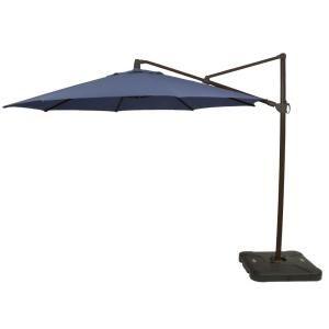 Hampton Bay 11 Ft Aluminum Cantilever Solar Led Offset Outdoor Patio Umbrella In Putty Tan Yjaf052 Pu Offset Patio Umbrella Patio Umbrella Patio