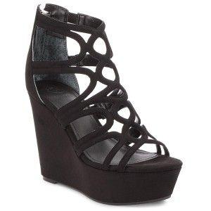 Sandaly Guess Geddy2 Flgd22 Esu03 Black Black Shoes Wedges