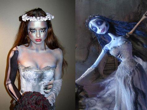 corpse bride, halloween, costume, creative