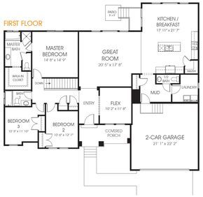 Beautiful Rambler Style House Floor Plan The Katrina Is What You Are Looking For In Your New Utah Home Call Edg Rambler House Plans Rambler House House Plans