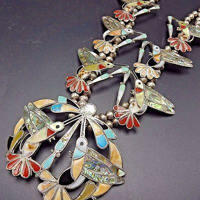 Zuni Sterling Silver Turquoise Multi Stone Hummingbird Brooch Pin Native American Indian Jewelry Hummingbird Pin