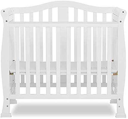 Amazon Com Dream On Me Addison 4 In 1 Convertible Mini Crib White Baby Mini Crib