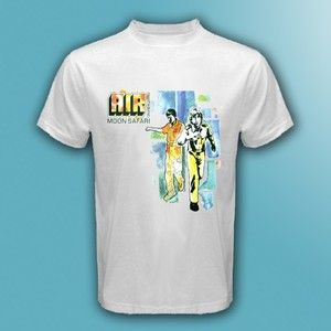 New AIR Moon Safari French Band Men/'s White T-Shirt Size S M L XL 2XL 3XL