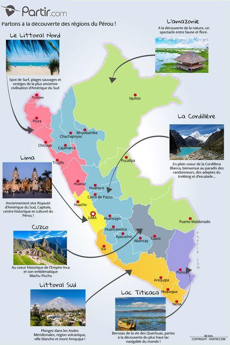 Voyage Des PerouVoyages Carte En 2019 Régions OnkX0w8P
