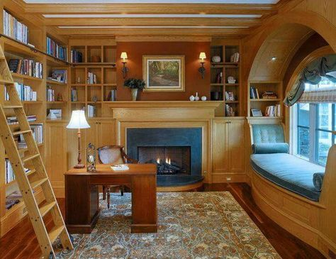 17 Trendy Home Library Room Dreams Book Nooks Sweet Home, Cozy Nook, Book Nooks, Reading Nooks, Reading Den, Reading Library, Design Case, House Goals, Dream Rooms