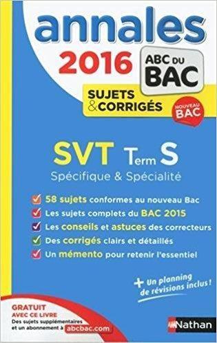 Telecharger Annales Abc Du Bac 2016 Svt Term S Specifique Et Specialite Gratuit Math Personal Care