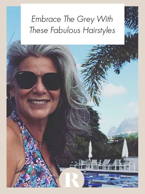 Going grey doesn't mean that you don't care about your appearance. You can still have a great hairstyle with grey hair! #greyhair #greyhairdontcare #hairgoals #hairinspo #hairstyles