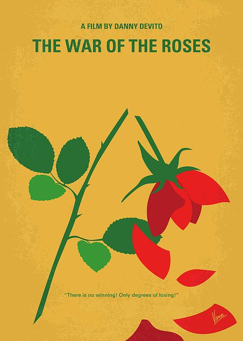 No1260 My The War of the Roses minimal movie poster by Chungkong Art